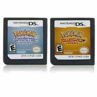 Pokemon Soul Silver Heart Gold US Version 3DS NDSI NDS NDSL
