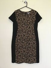 MILLERS Size 18 As New Animal Print Fitted Pencil Dress Work Office Smart Casual
