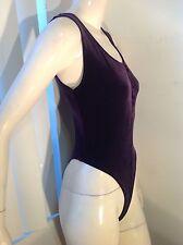Women Bodysuit,Mitra Modelle,USA Medium Dark Purple,2 Snap On Crotch,Soft&Sexy
