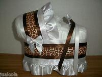 GIRAFFE BOY GIRL NEUTRAL  DIAPER BASSINET BABY SHOWER WASHCLOTH CENTERPIECE NEW