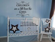 Children Are A Gift From Lord Psalm 127:3 Decor Decal Wall Vinyl Sticker Sticky