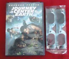 Journey To The Center of the Earth DVD with NEW 3D Glasses Brendan Frasier