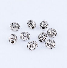 30pcs Nice Tibetan Silver Round Spacer Beads Loose Jewelry Findings DIY 6mm