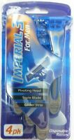 BUY 3 GET 1 FREE = 4 X ROLLS RAZOR IMPERIAL 3 MEN RAZORS TRIPLE BLADE PIVOTING
