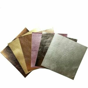 Metallic leather scraps Shiny Leather mix pre-cut leather pieces 5x5 or 10x10 in
