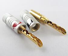 10 x Nakamichi 24K Gold Plated Copper BFA 4mm Banana Plug Male Speaker Connector