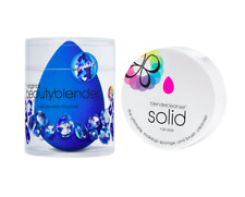 NEW Authentic BeautyBlender Sapphire Makeup Sponge & Solid Cleanser Latex Free
