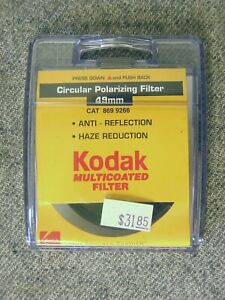 New Kodak 49mm Circular Polarizer (49CPL) MC Multi Coated Filter; Made in Japan