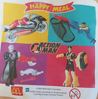 McDonalds Happy Meal Toy 2002 ACTION MAN Characters - VARIOUS