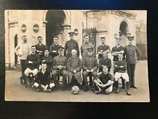 T.B.R.E Football Club 1913 Team RP Postcard - Brompton Barracks Chatham - r285