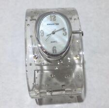 Manhattan Vintage Lucite & rhinestone Watch Bangle Bracelet