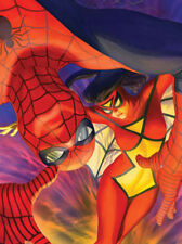 Spider-Man Spider-Woman Lithograph Painted by Artist Alex Ross Marvel Comics