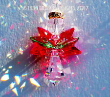 m/w Swarovski Christmas Angel Suncatcher Car Charm Siam Red Lilli Heart Designs