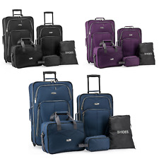 Elite Luggage Whitfield 5-Piece Softside Lightweight Rolling Luggage Set