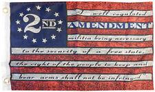 "2nd Amendment Betsy Ross 100D Woven Poly Nylon 12x18 12""x18"" Flag Banner Grommet"