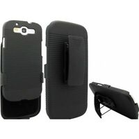 SAMSUNG GALAXY S3 - HARD SHELL HOLSTER CLIP COMBO CASE ARMOR COVER w KICKSTAND