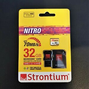 Strontium Nitro - 64GB MicroSDHC Card with Adapter and USB Reader