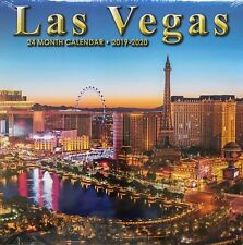2019 2020 2 Year 24 Month Las Vegas Wall Calendar Paris New York Luxor Mandalay