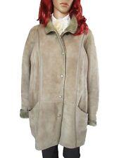 Woman Vintage Retro 70 s leather sheepskin fur Suede Jacket Coat Plus Size 16 18 ap51