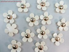 30pcs sewing craft button resin flower flat back embellishments appliques 1.35""