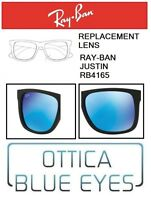 Lenti di Ricambio RAYBAN JUSTIN RB 4165 filtri Replacement Lenses Ray Ban BLU 55