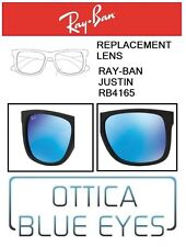 Lenti di Ricambio RAYBAN JUSTIN RB 4165 filtri Replacement Lenses Ray Ban BLU 55