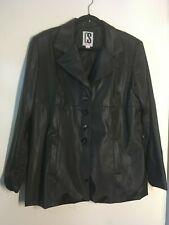 CS Signature - Black Shiny Polyvinyl Jacket Size L Fully Lined