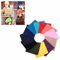 Tube Solid Color Scarf Bandana Head Face Mask Neck Gaiter Snood Headwear  New