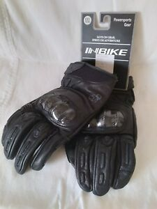 New Inbike Mens Moto Leather Gloves Motorcycle Motor Racing Size XXL BLACK