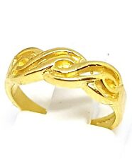 9ct yellow gold Celtic waves band ring size H 1/2 fully Hallmarked