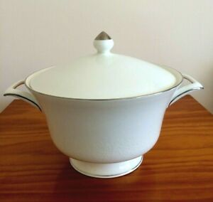 Beautiful *Wedgwood* 'Silver Ermine' Large Twin Handled, Lidded Serving Tureen.