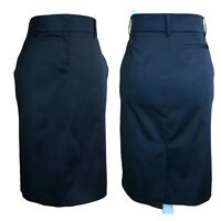 To The Max Black Back Slit Pockets Stretch Career Straight Pencil Skirt Womens 4