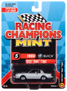 2021 NEW 1:64 RACING CHAMPIONS MINT Silver 1986 Buick Regal T-TYPE *NIP*
