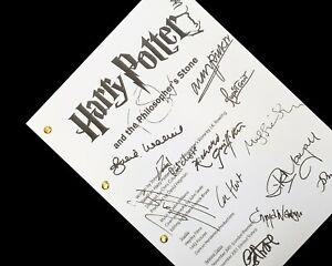 Harry Potter and Philosophers Stone Script Pilot Signatures Autographs Reprint
