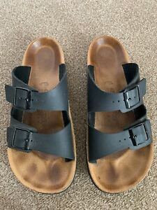 BIRKENSTOCK Relax  Black Men's Sandals Sliders size 8 / 42 Excellent Condition