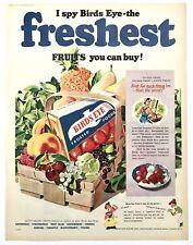 BIRDS EYE FRUITS - Vintage Magazine Advert (28 November 1953) Food *