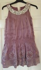 Girls 10 y John Rocha dress wedding christening party lilac sequins embroidery