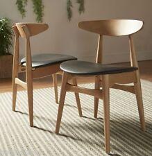 2 Pc Norwegian Danish Side Chairs Dining Mid Century Modern Accent Retro Kitchen