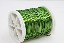 Green Jewellery Wire 20,22,28 Gauge, Craft Wire Jewelry, Enameled Copper