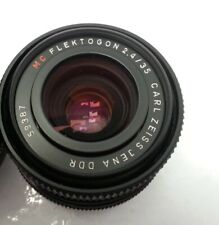 Genuine Carl Zeiss Jena Flektogon 2.4/35  MC DDR Camera Lens & Lens Cover