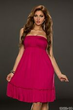 Party Club Formal Wear Modern Stylish Bandeau Mini Dress UK size 8-10 Dark Pink