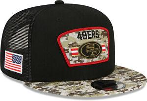 San Francisco 49Ers New Era 9Fifty NFL 2021 Salute To Service Snapback Team Cap