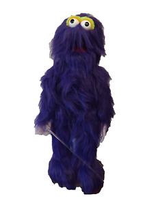 """monster puppet purple 26"""" Ventriloquist,Educational.Moving mouth and arm rod"""