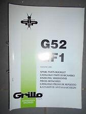 GRILLO motoculteur G52 - GF1 : catalogue pièces 2001