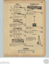1951 PAPER AD Wyandotte Toy Defender Cork Gun Rifle Daisy Pop Hopalong Cassidy