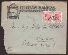 1937 Lithuania letter sent from Lazdijai to Kaunas