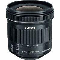 Brand New Genuine Canon EF-S 10-18mm f/4.5-5.6 IS STM  Black Lens ES*3