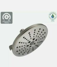 New Delta Power Drench 3 Sprays 75356 H2Okinetic Huge Shower Head Brushed Nickel