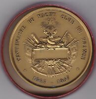 BOXED FRANCE 1867 TO 1967 BRONZE YACHT CLUB MEDAL IN NEAR MINT CONDITION