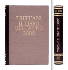 TRECCANI - IL LIBRO DELL'ANNO 2000 - VERSIONE LUSSO DORSO IN PELLE MARRONE E ORO